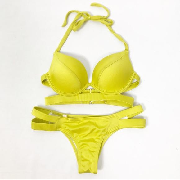 Victoria's Secret Other - Victoria's Secret Mustard Pushup Bikini